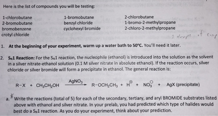 solved here is the list of compounds you will be testing