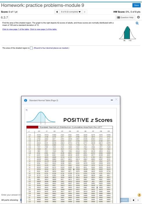 Homework Practice Problems Module 9 Save Score 0 Of 1 Pt 8