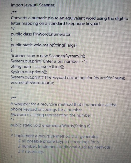Solved: In Java, Needing Help With This Homework Assignmen