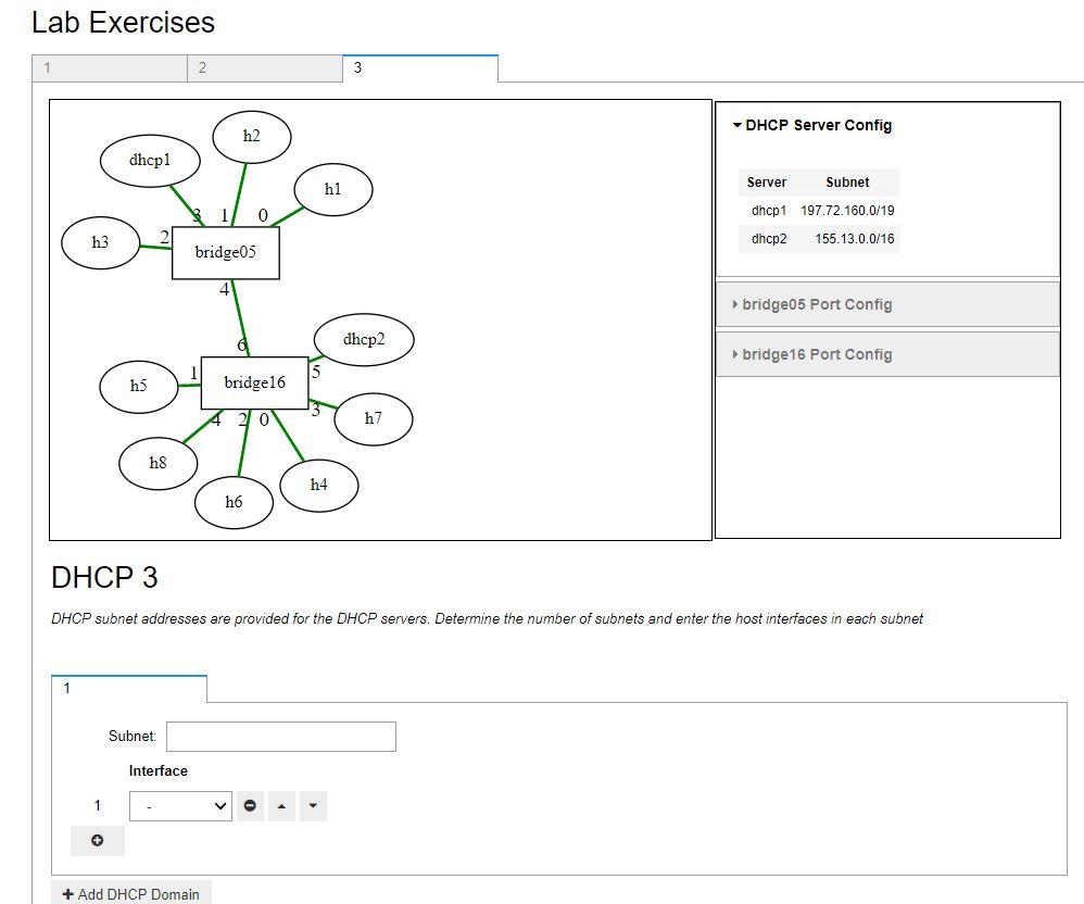 Lab Exercises DHCP Server Config H2 Dhcpl Server D