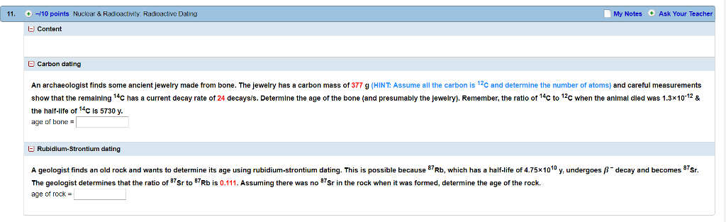 radioactive dating ratio