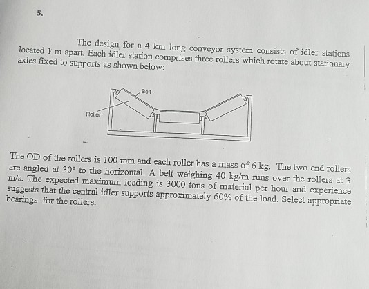 5  The Design For A 4 Km Long Conveyor System Cons