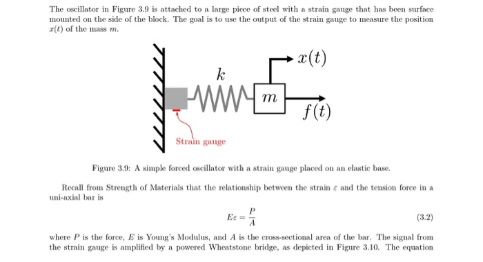 Question The Oscillator In Figure 39 Is Attached To A Large Piece Of Steel With Strain Gauge That Has B
