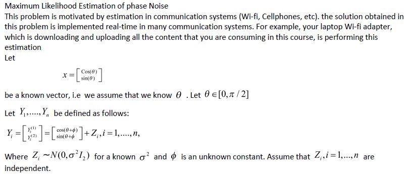 Maximum Likelihood Estimation Of Phase Noise This
