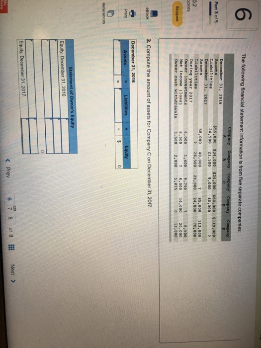 Accounting archive january 16 2018 chegg 6 the following financial statement information is from five separate companies r 31 2016 fandeluxe Gallery