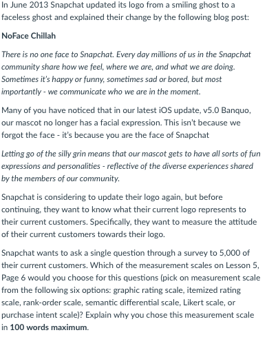 Solved: In June 2013 Snapchat Updated Its Logo From A Smil
