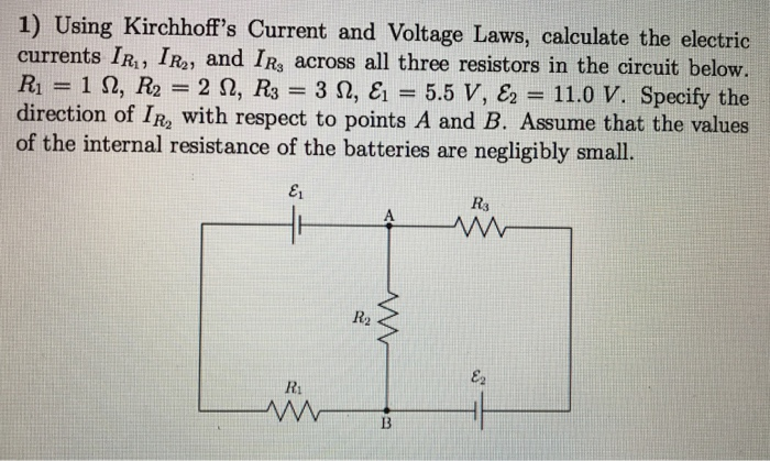 Solved: Using Kirchhoff's Current And Voltage Laws, Calcul