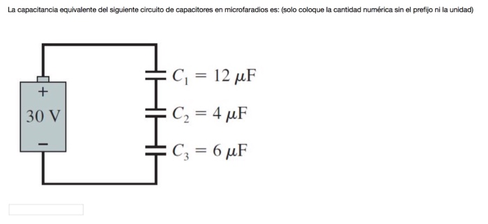 Solved The Equivalent Capacitance Of The Following Capaci