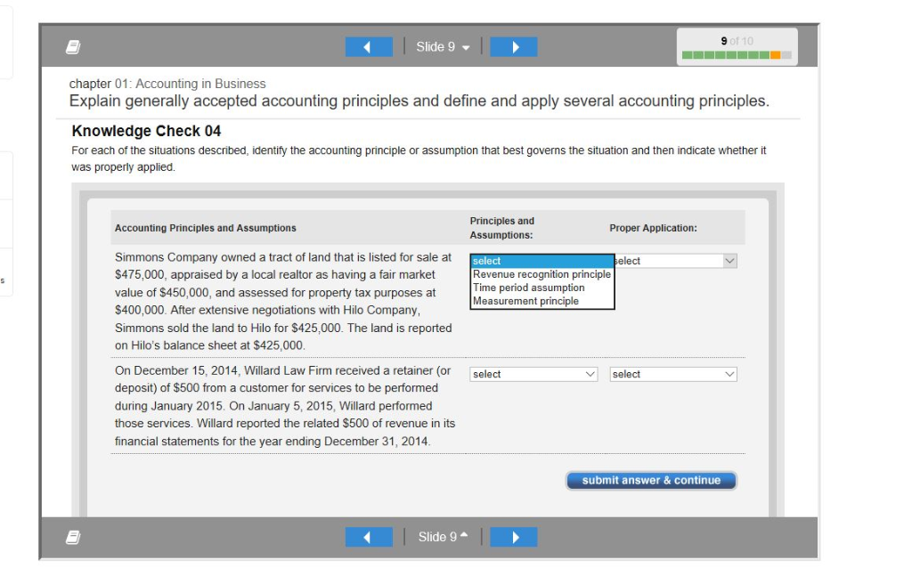 Solved: Slide 8 Chapter 01: Accounting In Business Explain