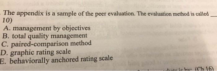 peer evaluation sample