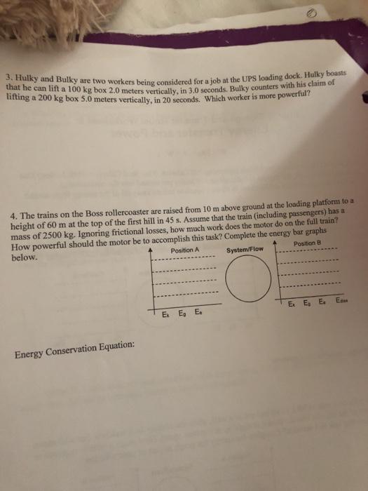 Energy Model Worksheet 4 Energy Transfer And Power Answers ...