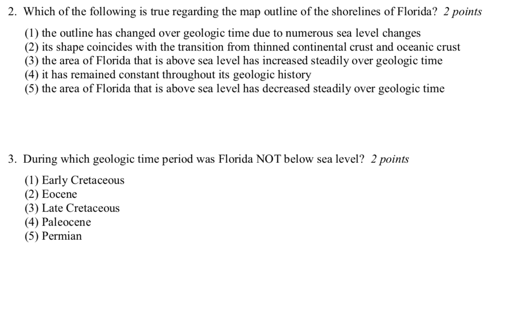 Which Of The Following Is True Regarding The Map Outline Of The Shorelines Of Florida? Solved: Which Of The Following Is True Regarding The Relat
