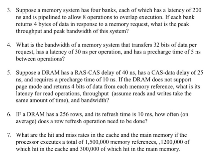 Solved: 3  Suppose A Memory System Has Four Banks, Each Of