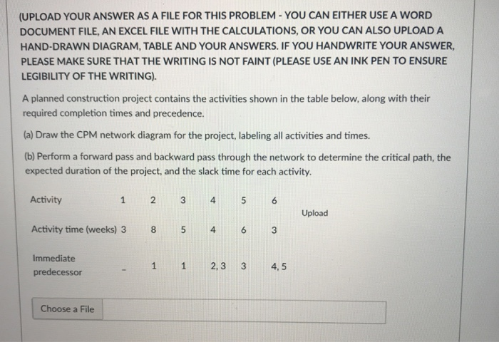 Solved: (UPLOAD YOUR ANSWER AS A FILE FOR THIS PROBLEM - Y