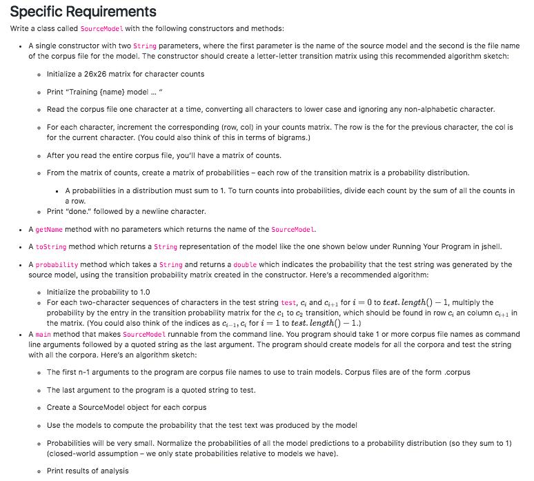 Using Java: Sample Corpus File: English: Https://d