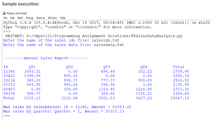 python data analysis example code