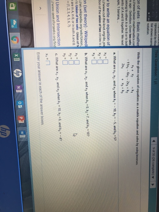 Solved: By Kha 9 Of 35 (26 Complete) Sal Shows Exam Notati