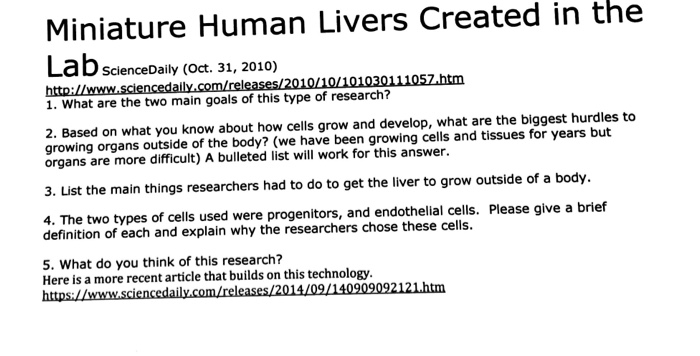 Biology archive march 28 2018 chegg miniature human livers created in the sciencedaily oct 31 2010 1 fandeluxe Image collections