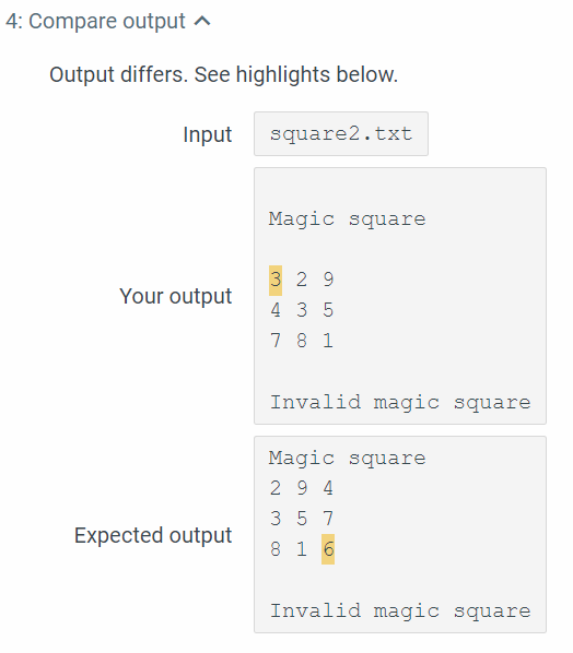 Solved: [C++] Magic Square Expected Output: REQUIREMENTS T
