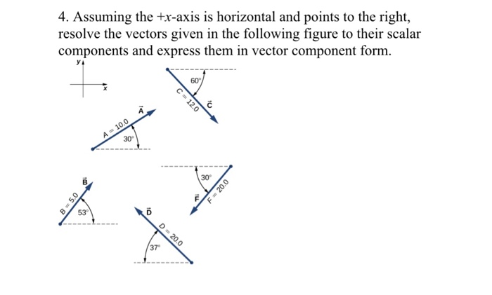 solved 4 assuming the xaxis is horizontal and points t