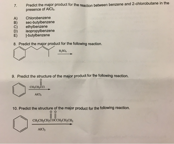 Solved: 7  Predict The Major Product For The Reaction Betw