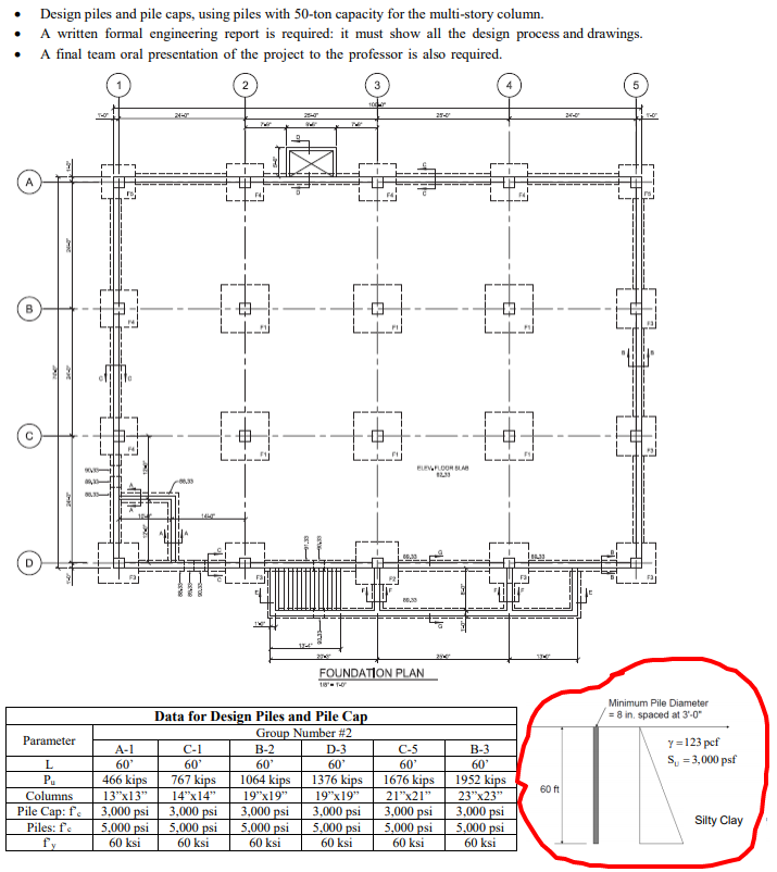 Pile Foundation Drawing