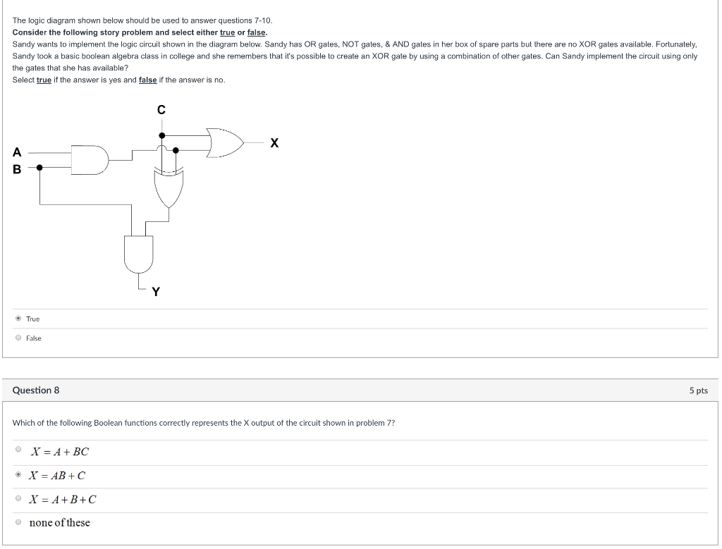 Solved The Logic Diagram Shown Below Should Be Used To An Gates Question Answer Questions 7 10 Consider Following Sto