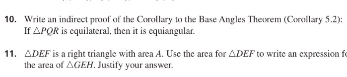 Solved Write An Indirect Proof Of The Corollary To The Ba