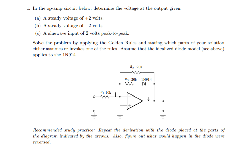 Strange Solved 1 In The Op Amp Circuit Below Determine The Volt Wiring Digital Resources Unprprontobusorg