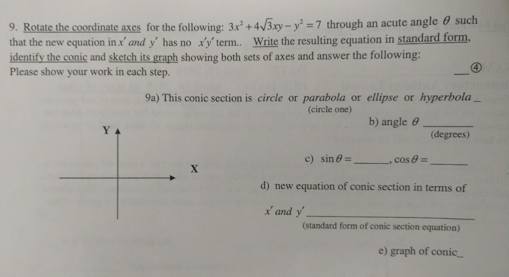 write the equation of circle in general form show your