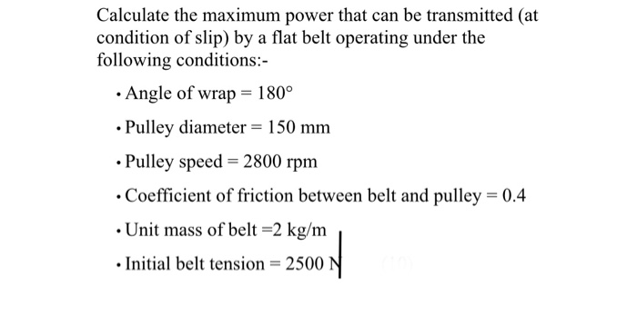 Solved: Calculate The Maximum Power That Can Be Transmitte