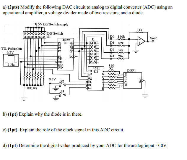 A) (2pts) Modify The Following DAC Circuit To ... on