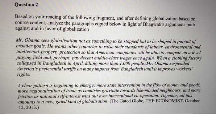 arguments in favor of globalization