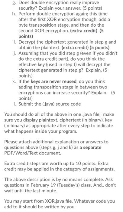 Solved: Assignment No 1 -- Stream Cipher (XOR Encryption