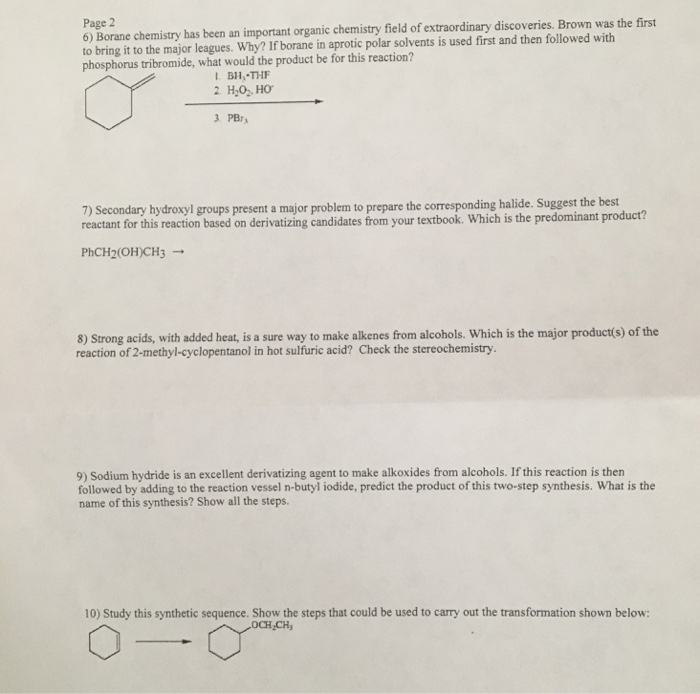 Solved: Page 2 6) Borane Chemistry Has Been An Important O