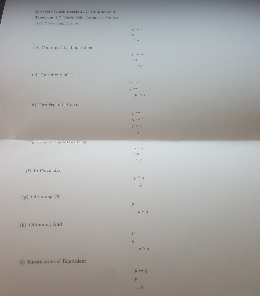 Solved: --- This Is Discrete Mathematics Questions  1  Use