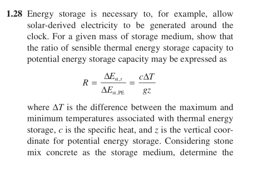 Beau Solved: Energy Storage Is Necessary To, For Example, Allow ...