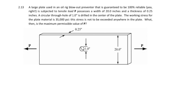 2 13 a large plate used in an oil rig blow-out preventer that is guaranteed