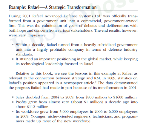 Example Rafael A Strategic Transformation During 2001 Advanced Defense Systems Ltd Was Analyzing The Sources Of These Success Factors From KM