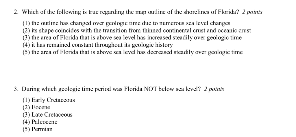 Which Of The Following Is True Regarding The Map Outline Of The Shorelines Of Florida? Solved: 2. Which Of The Following Is True Regarding The Ma