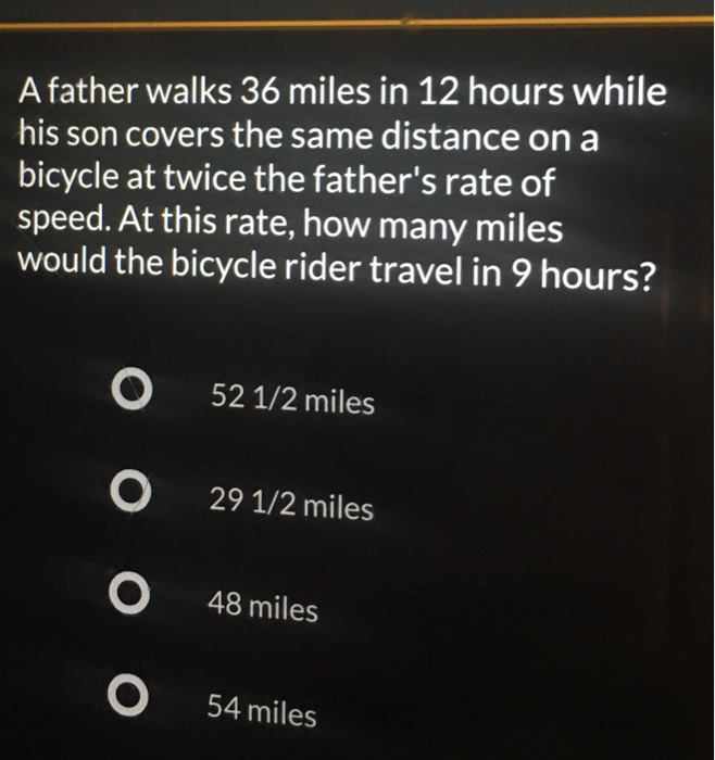 How Many Miles From >> Solved A Father Walks 36 Miles In 12 Hours While His Son