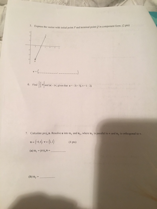 Solved: Math 142 Worksheet On Vectors &Conic Section 1  Sk