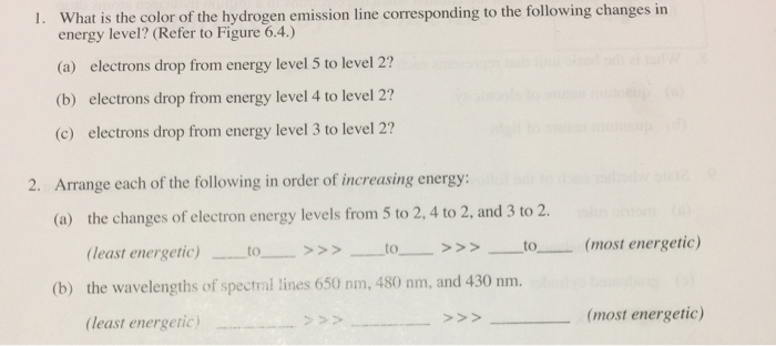Solved What Is The Color Of The Hydrogen Emission Line Co