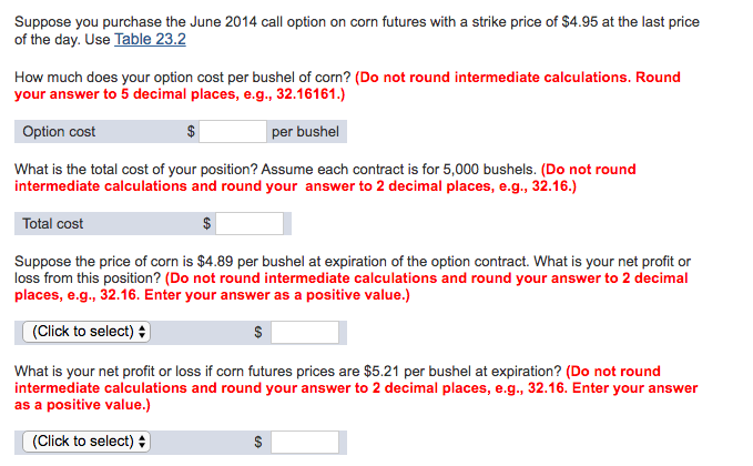Options Quotes | Table 23 2 Corn Options Quotes Globex View Another
