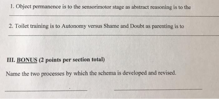 sensorimotor substages