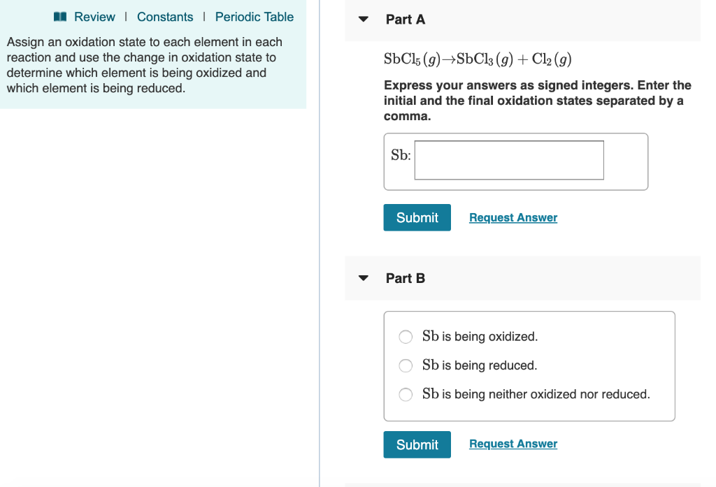 Solved Reviewi Constants Periodic Table Part A Assign An