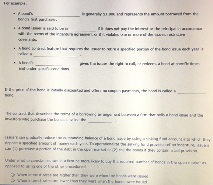 Solved A Bonds Is Generally 1000 And Represents