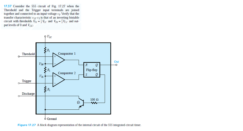 Solved: 7.37 Consider The 555 Circuit Of Fig. 17.27 When T ... on