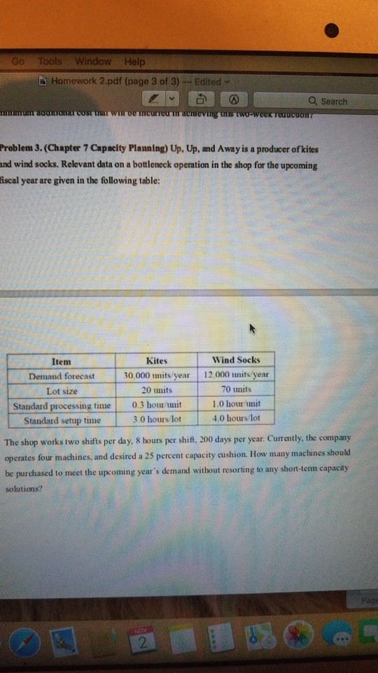 Solved: Go Tools Window Help Homework 2 pdf (page 3 Of 3