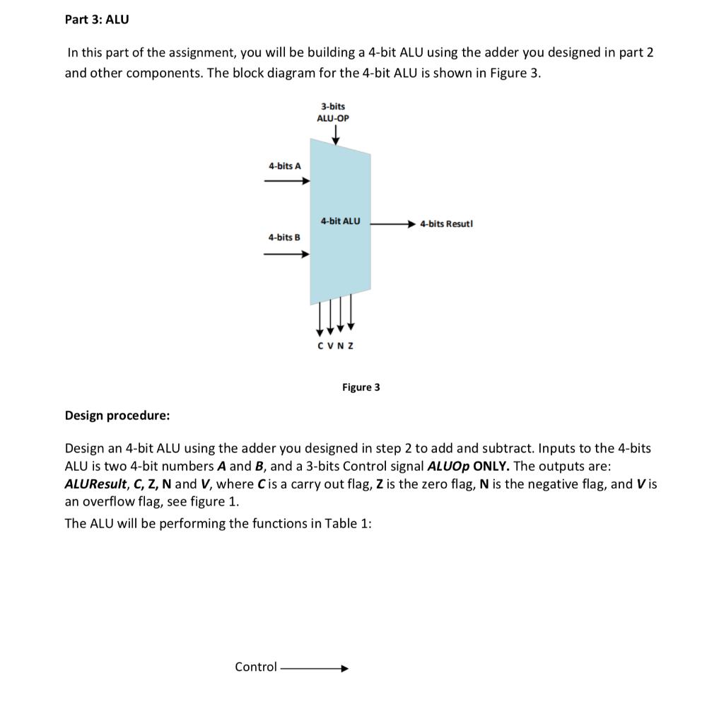 Part 2: 4-bits Adder And Subtractor In This Part O...   Chegg.com Block Diagram Of Bit Alu on desktop diagram, alu schematic diagram, 32-bit alu design diagram, input output diagram, logic diagram, cpu diagram, alu part of functional, 4 function alu circuit diagram, digital camera diagram, church sound system diagram, 74193 pin diagram, alu 4-bit adder subtractor, table setting diagram, alu control diagram, amd processor architecture diagram,